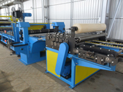 Automatic line for longitudinal/transverse cutting of coiled steel