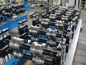 Line for producing metal fence